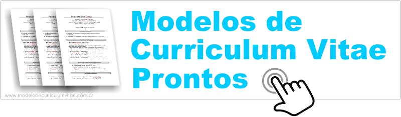 Modelo de Curriculum Vitae Pronto para Baixar