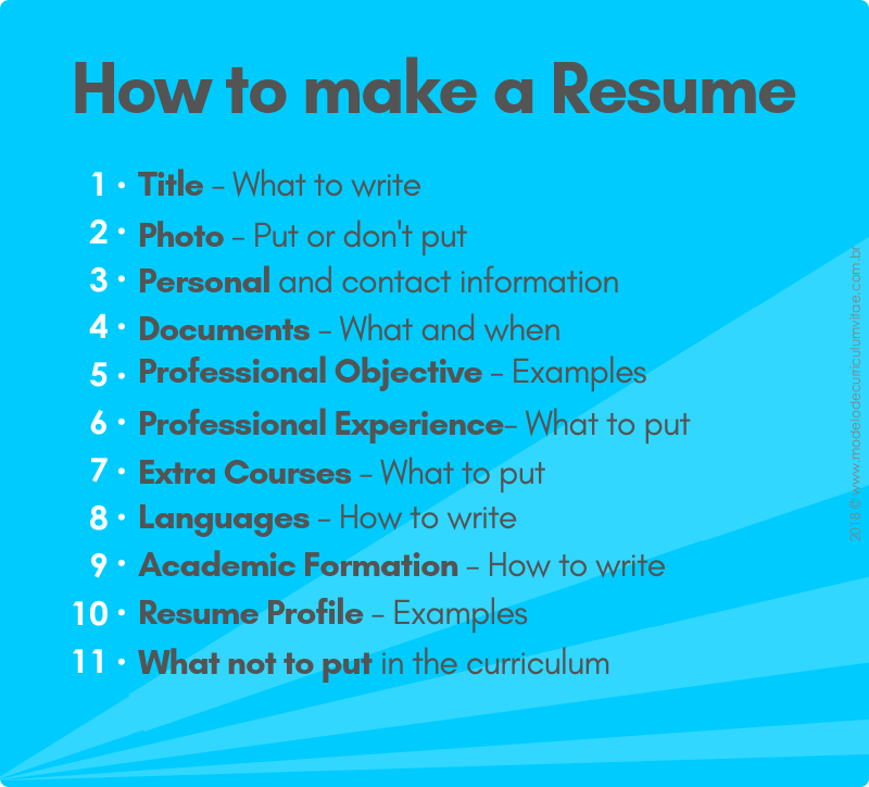 How to make a top resume