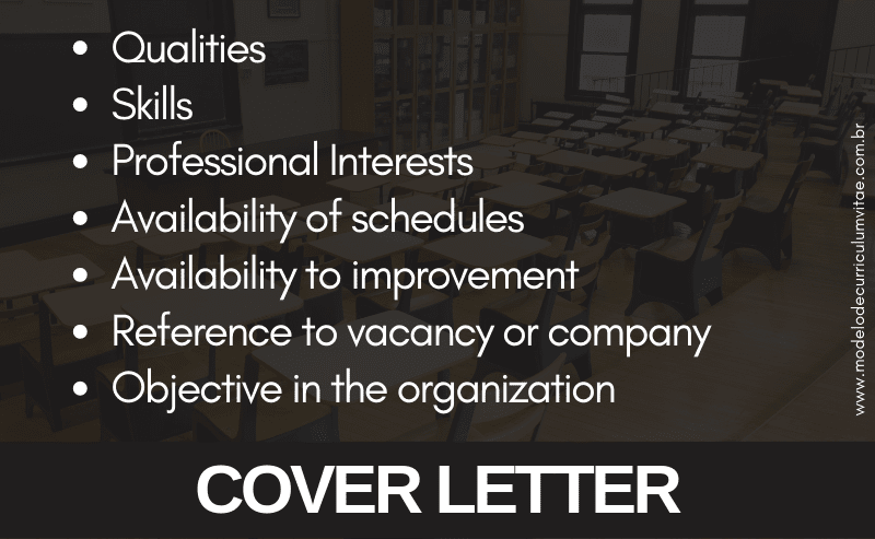 What to put in the Cover Letter