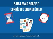 currículo cronológico